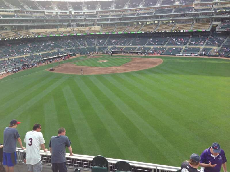 Seating view for Target Field Section 238 Row 1 Seat 3