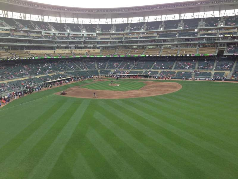 Seating view for Target Field Section 239 Row 2 Seat 17
