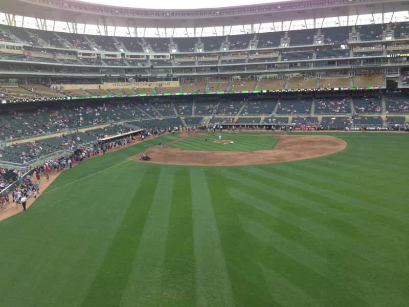 Seating view for Target Field Section 240 Row 1 Seat 1