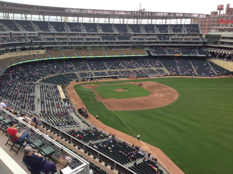 Seating view for Target Field Section 301 Row 1 Seat 14