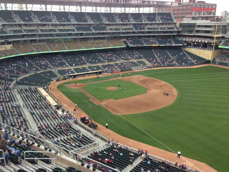 Seating view for Target Field Section 303 Row 1 Seat 4