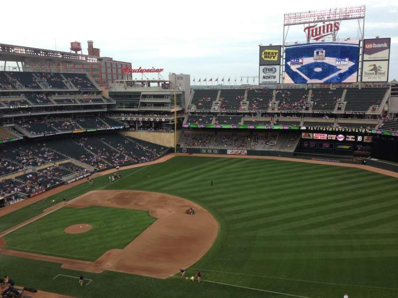 Seating view for Target Field Section 306 Row 1 Seat 9