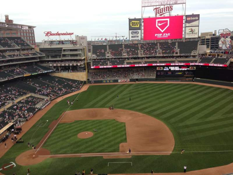 Seating view for Target Field Section 309 Row 1 Seat 11