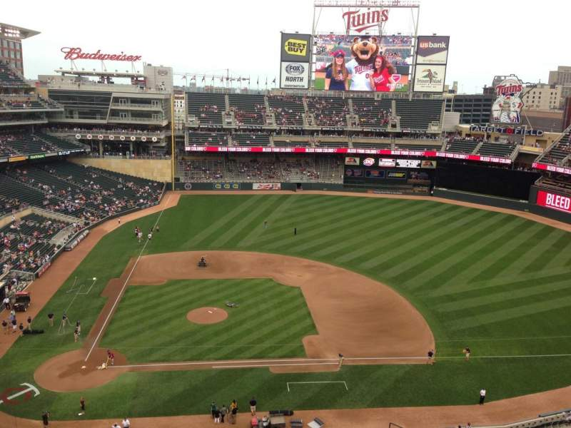 Seating view for Target Field Section 310 Row 1 Seat 6