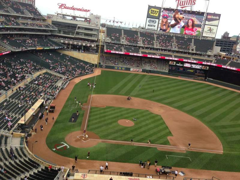 Seating view for Target Field Section 311 Row 1 Seat 11