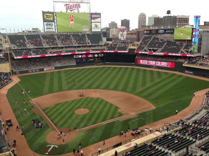 Seating view for Target Field Section 312 Row 1 Seat 13