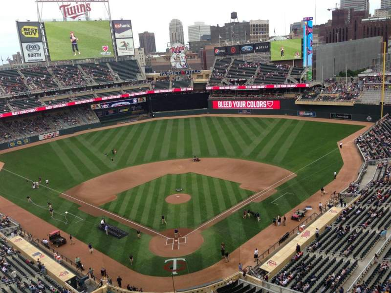Seating view for Target Field Section 314 Row 1 Seat 14