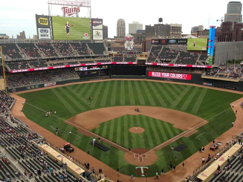 Seating view for Target Field Section 315 Row 1 Seat 11
