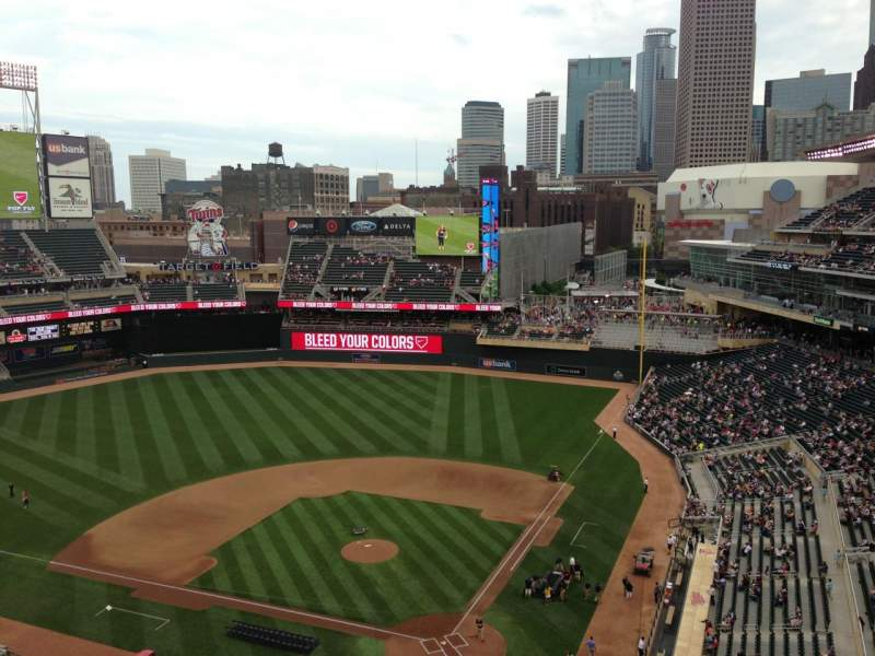Seating view for Target Field Section 316 Row 1 Seat 11