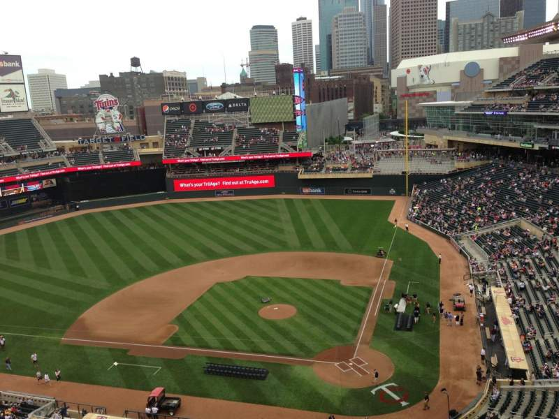 Seating view for Target Field Section 317 Row 1 Seat 15