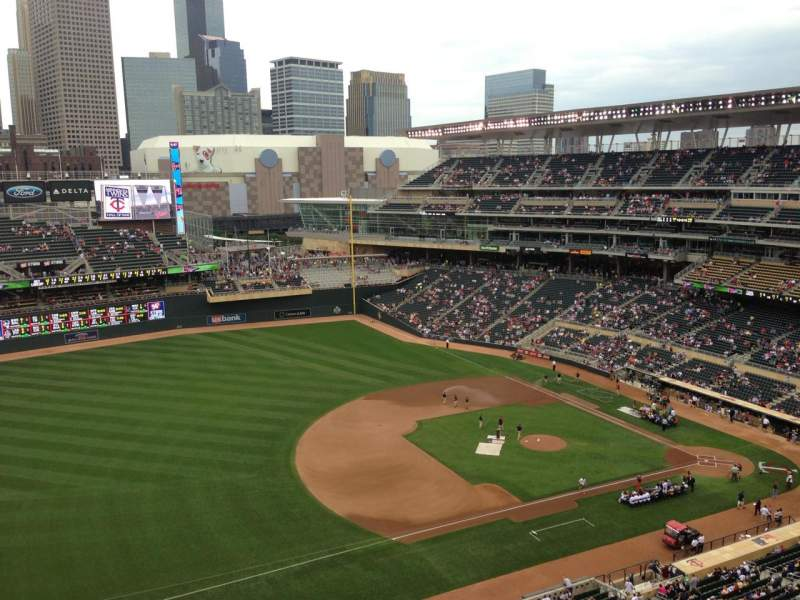 Seating view for Target Field Section 324 Row 8 Seat 12