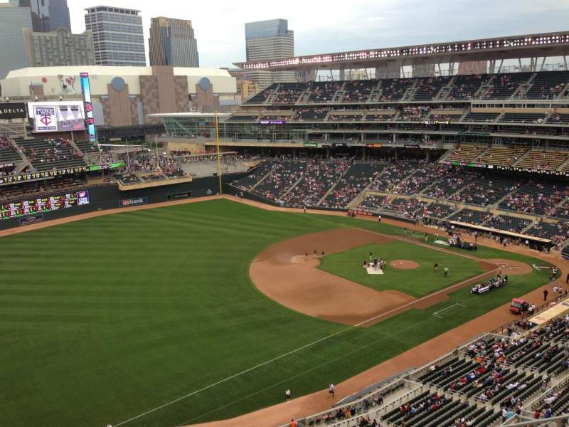 Seating view for Target Field Section 326 Row 8 Seat 14