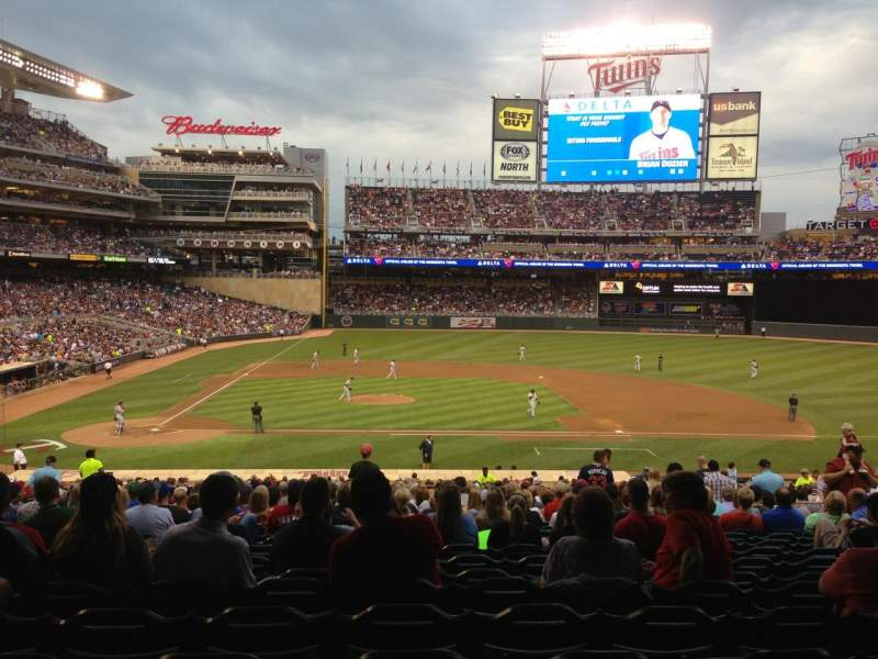 Seating view for Target Field Section 109 Row 23 Seat 14