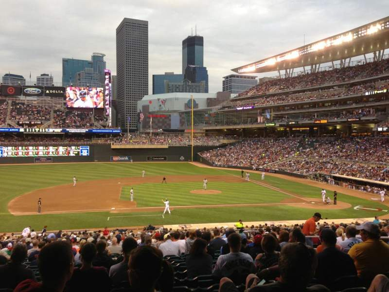 Seating view for Target Field Section 120 Row 23 Seat 9