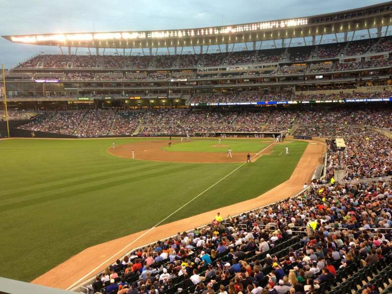 Seating view for Target Field Section SRO