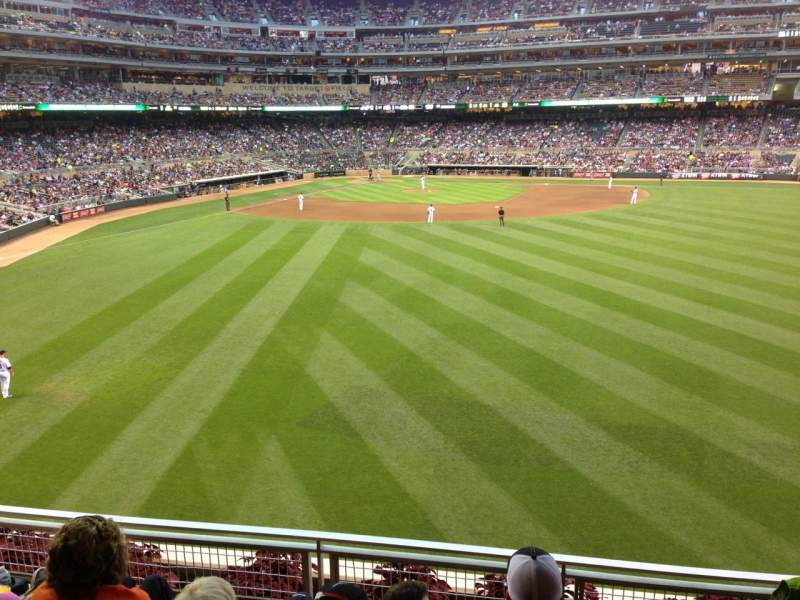 Seating view for Target Field Section 134 Row 4 Seat 22