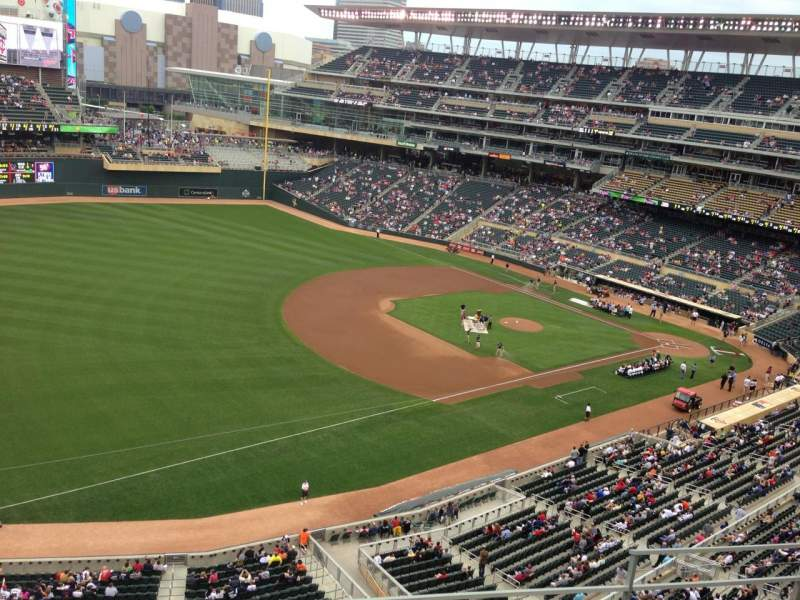 Seating view for Target Field Section 226 Row 5 Seat 11
