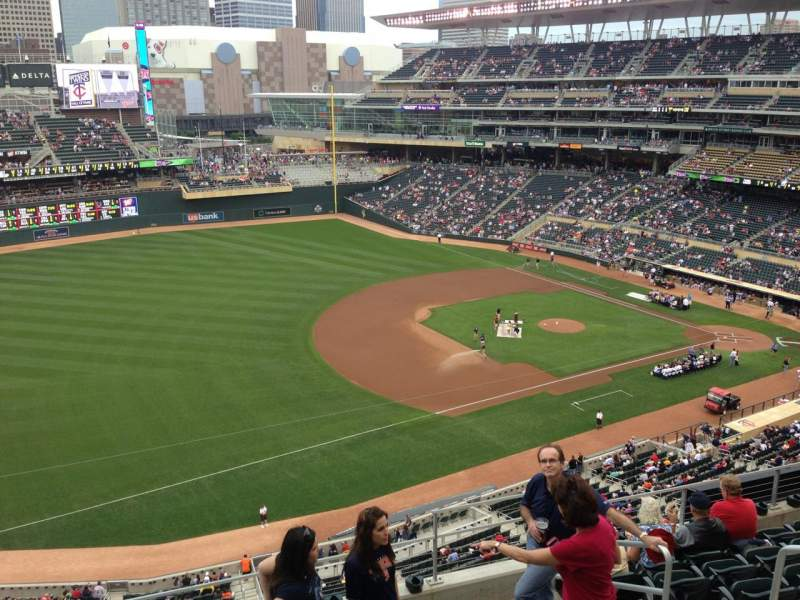 Seating view for Target Field Section 225 Row 5 Seat 10