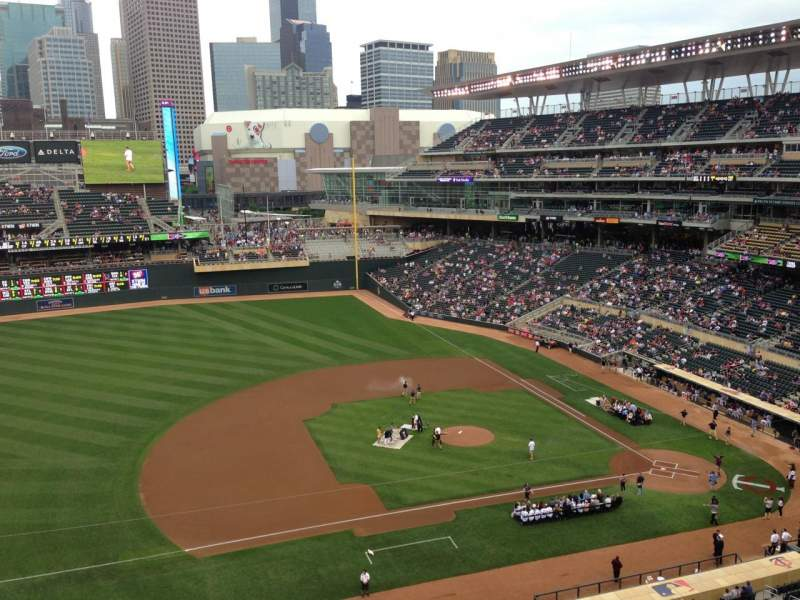 Seating view for Target Field Section 222 Row 5 Seat 1