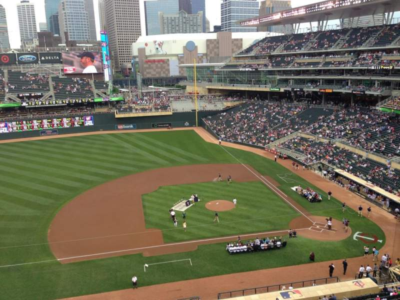 Seating view for Target Field Section 221 Row 5 Seat 7