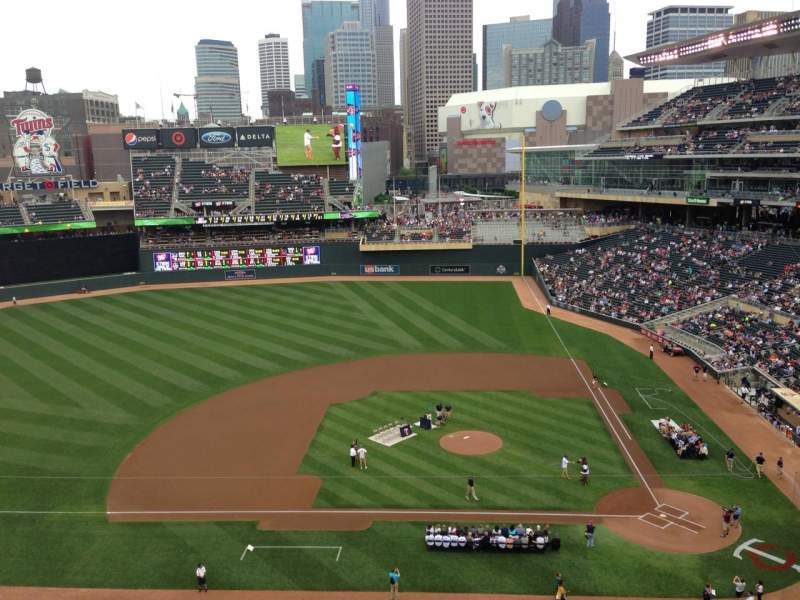 Seating view for Target Field Section 220 Row 5 Seat 14