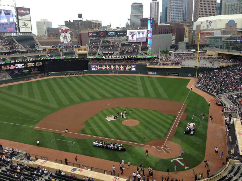 Target Field, section: 218, row: 5, seat: 7
