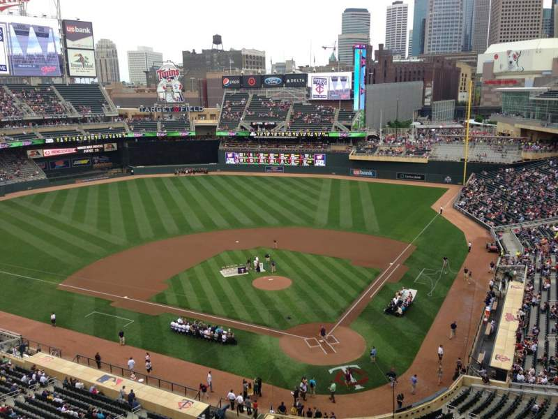 Seating view for Target Field Section 217 Row 5 Seat 12