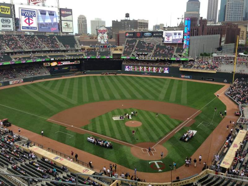 Seating view for Target Field Section 216 Row 5 Seat 11