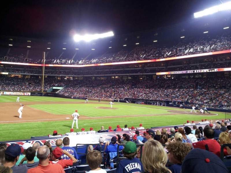Seating view for Turner Field Section 114 Row 14 Seat 104