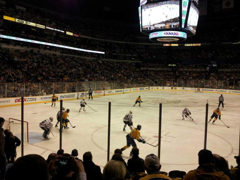 Seating view for Bridgestone Arena Section 112 Row Kk Seat 8