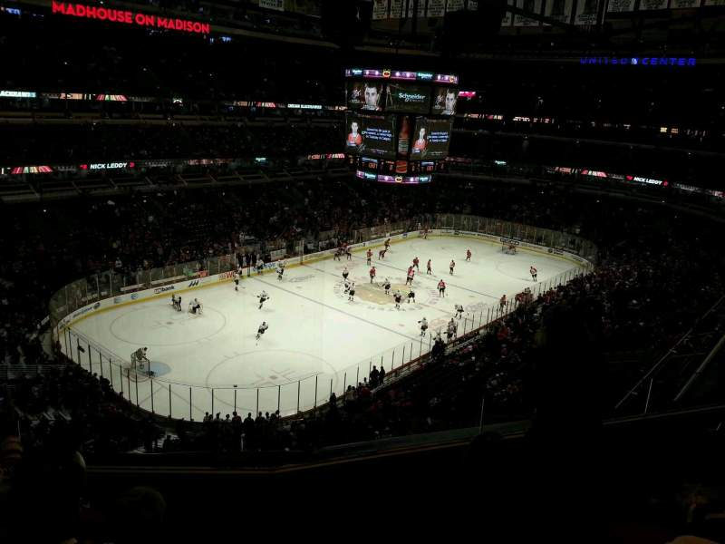 Seating view for United Center Section 322 Row 4 Seat 7