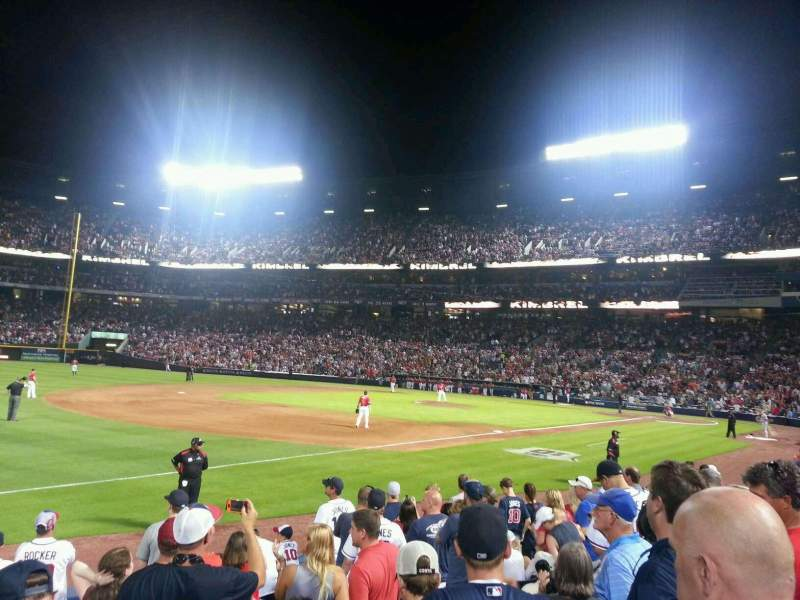 Seating view for Turner Field Section 122 Row 10 Seat 9