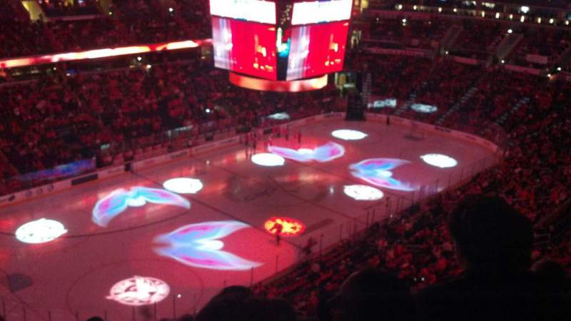 Seating view for Verizon Center Section 413 Row G Seat 5