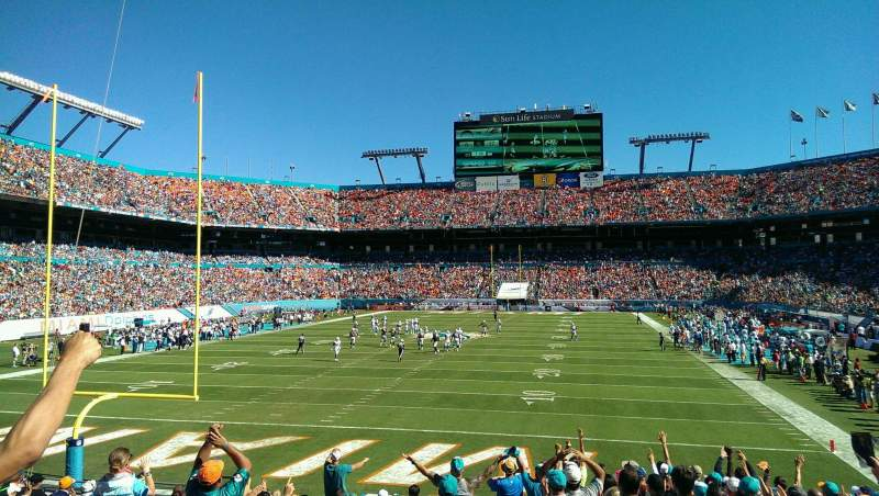 Seating view for Hard Rock Stadium Section 155 Row 9 Seat 18