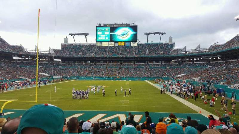Seating view for Hard Rock Stadium Section 103 Row 17 Seat 14