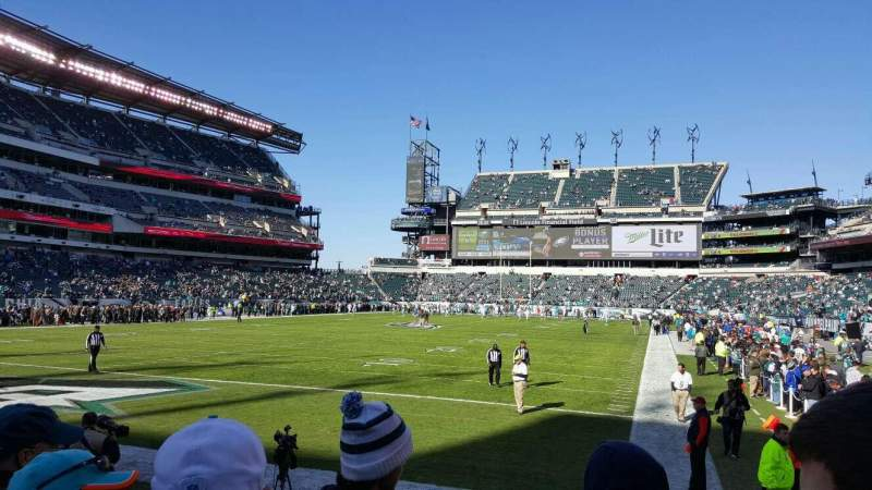 Seating view for Lincoln Financial Field Section 113 Row 4 Seat 3