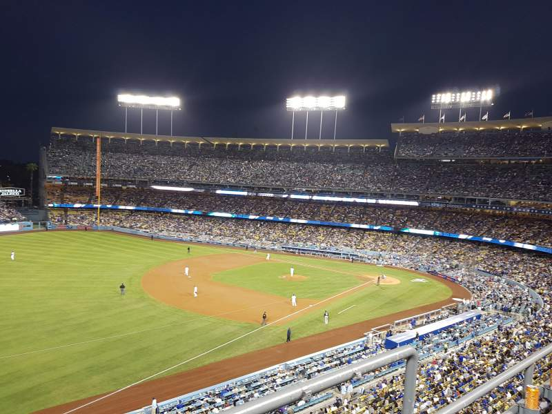 Seating view for Dodger Stadium Section 39RS Row B Seat 2