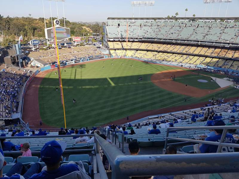 Seating view for Dodger Stadium Section 45RS Row EE Seat 14