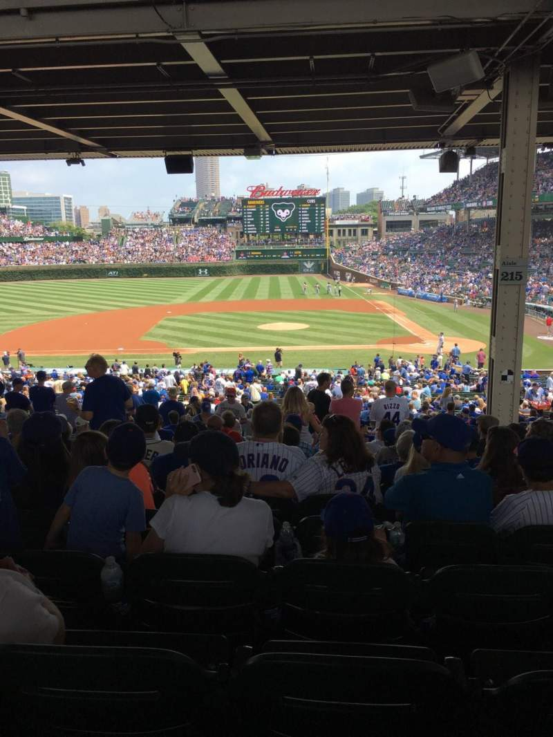 Seating view for Wrigley Field Section 215 Row 17 Seat 4