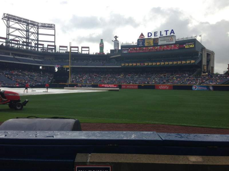 Seating view for Turner field Section 121R Row 3 Seat 1