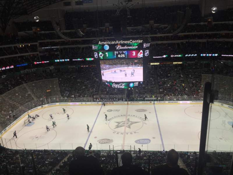 Seating view for American Airlines Center Section 309 Row G Seat 18