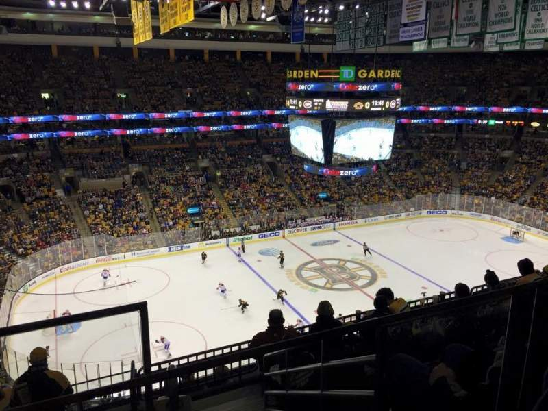 Seating view for TD Garden Section Bal 318 Row 9 Seat 19