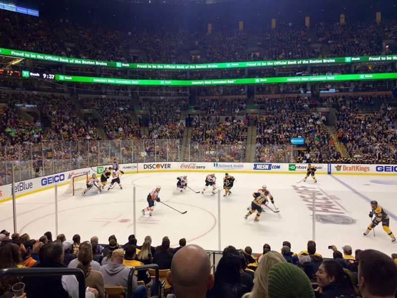 Seating view for TD Garden Section LOGE 13 Row 12 Seat 17