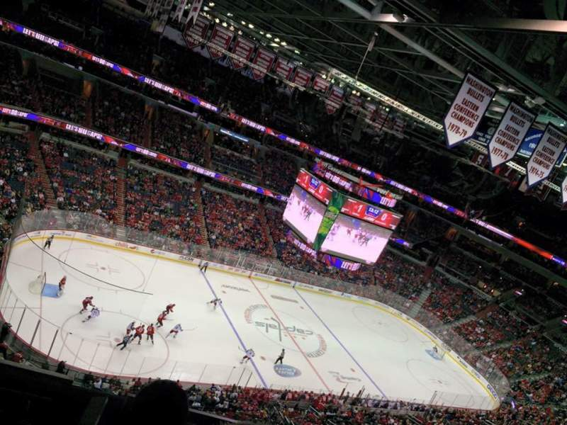 Seating view for Verizon Center Section 431 Row H Seat 5
