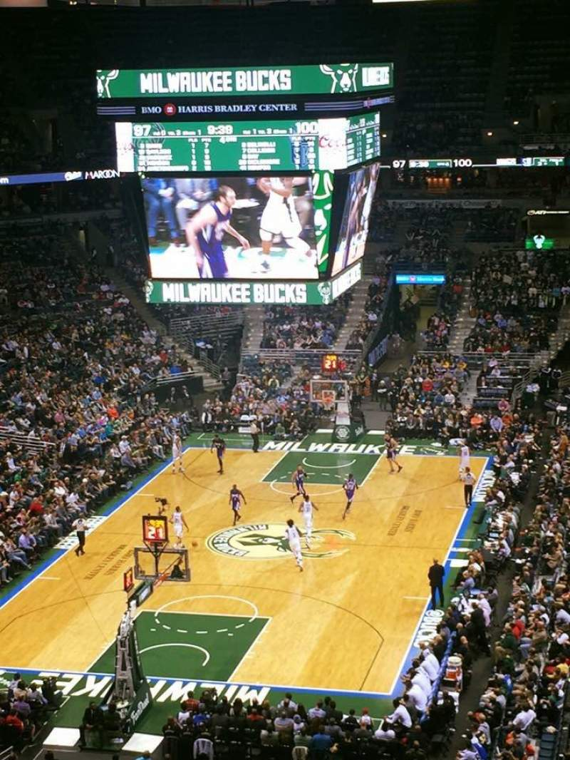 Seating view for BMO Harris Bradley Center Section 409 Row M