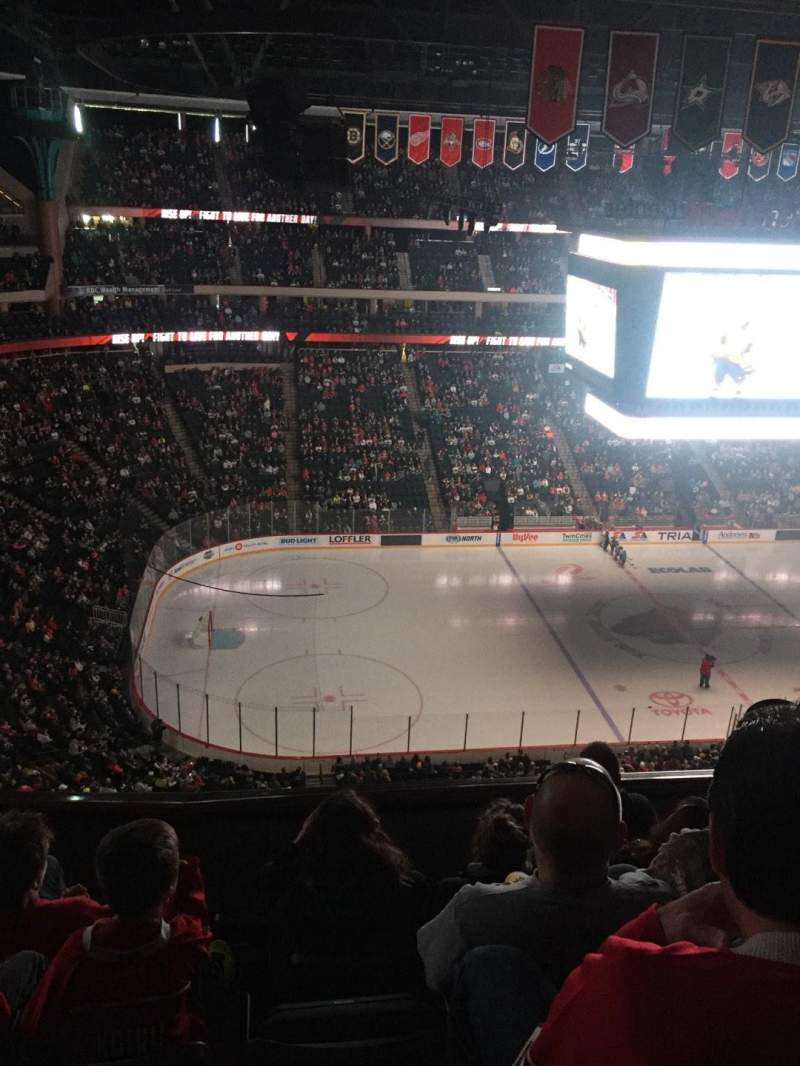Seating view for Xcel Energy Center Section 206 Row 5 Seat 15