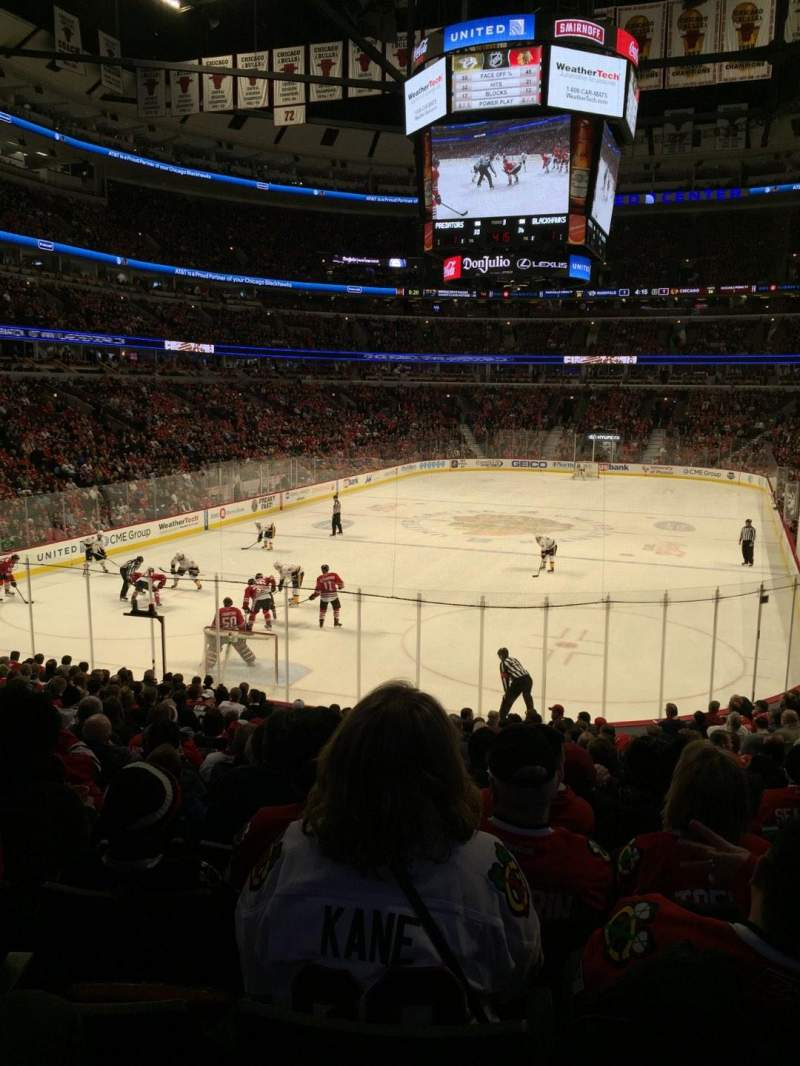 Seating view for United Center Section 105 Row 19 Seat 15