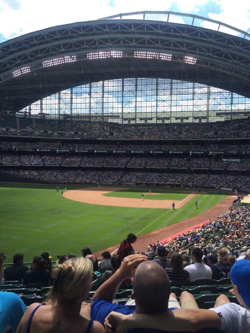 Seating view for Miller Park Section 232 Row 10 Seat 13