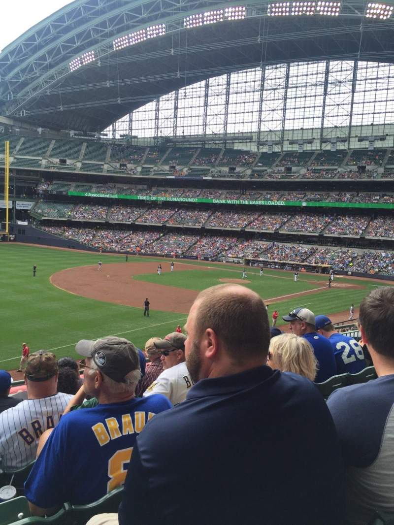 Seating view for Miller Park Section 229 Row 5 Seat 16