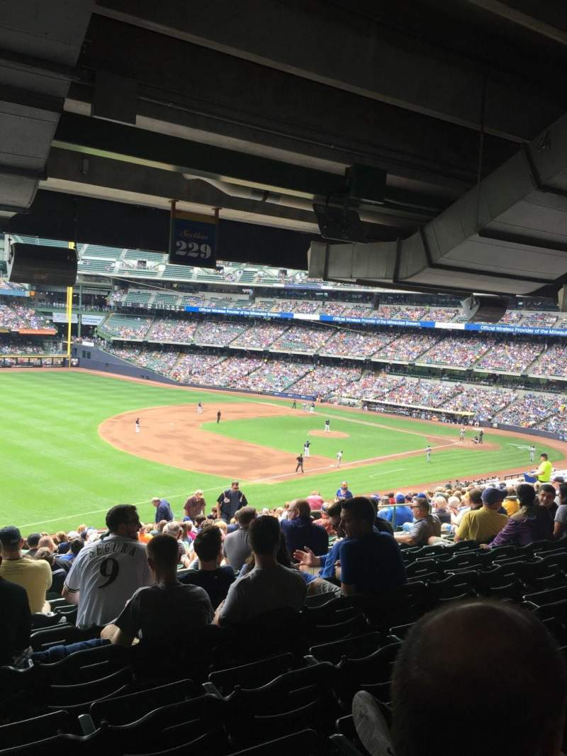 Seating view for Miller Park Section 229 Row 21 Seat 15